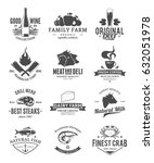 vector food and drink logo   Shutterstock .eps vector #632051978