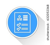report document button icon... | Shutterstock . vector #632052368