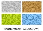 seamless animal scale and crack ... | Shutterstock .eps vector #632053994