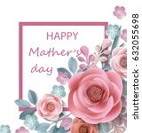 postcard to mother's day  with... | Shutterstock .eps vector #632055698