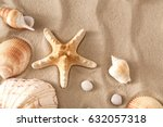 Sea Beach Sand Background With...