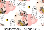 hand drawn vector abstract... | Shutterstock .eps vector #632058518