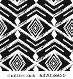 black tribal navajo vector... | Shutterstock .eps vector #632058620