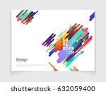 minimalistic cover or brochure... | Shutterstock .eps vector #632059400