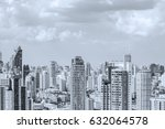 city space black and white | Shutterstock . vector #632064578