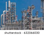 industrial view at oil... | Shutterstock . vector #632066030