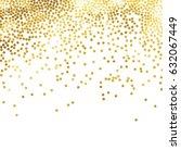 gold glitter background polka... | Shutterstock .eps vector #632067449