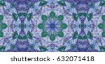 ethnic boho tribal seamless... | Shutterstock . vector #632071418
