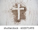 ash wednesday cross  crucifix... | Shutterstock . vector #632071493