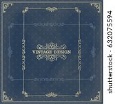 vector ornament design element. ... | Shutterstock .eps vector #632075594
