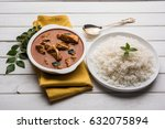 tasty fish curry served with... | Shutterstock . vector #632075894