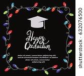 graduation party invitation... | Shutterstock .eps vector #632076500