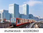 docklands light railway in... | Shutterstock . vector #632082863