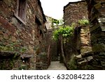 historical village. old street... | Shutterstock . vector #632084228