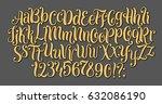 handwritten lettering vector... | Shutterstock .eps vector #632086190