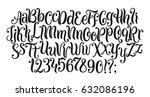 handwritten lettering vector...   Shutterstock .eps vector #632086196