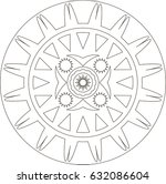 mandala. coloring book pages. | Shutterstock . vector #632086604