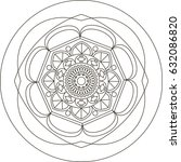 mandala. coloring book pages. | Shutterstock .eps vector #632086820