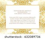 abstract art invitation card  | Shutterstock .eps vector #632089736