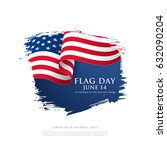 flag day in the united states ... | Shutterstock .eps vector #632090204