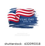 flag day in the united states ... | Shutterstock .eps vector #632090318