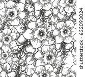 abstract elegance seamless... | Shutterstock .eps vector #632093024