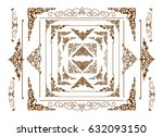 borders vector design  golden... | Shutterstock .eps vector #632093150