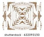 borders vector design  golden... | Shutterstock .eps vector #632093150