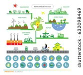 vector info chart renewable... | Shutterstock .eps vector #632098469