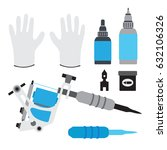 tattoo kit  tools and equipment.... | Shutterstock . vector #632106326