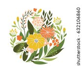 floral illustration | Shutterstock .eps vector #632106860
