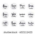 vector baby 1 12 months... | Shutterstock .eps vector #632111423