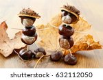 tinker little chestnut figures... | Shutterstock . vector #632112050