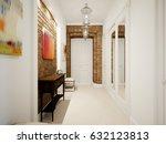 modern classic hall hallway... | Shutterstock . vector #632123813