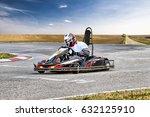go kart racer on the track in... | Shutterstock . vector #632125910