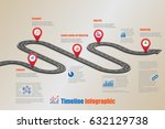 design template  road map... | Shutterstock .eps vector #632129738
