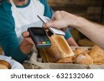 customer paying bill through... | Shutterstock . vector #632132060