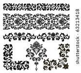 raster version of vector set of ... | Shutterstock . vector #63213418