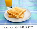 side view close up  grill bread ... | Shutterstock . vector #632145620