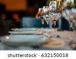 luxury table setting | Shutterstock . vector #632150018