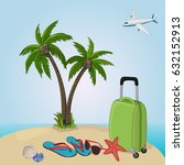 happy vacation   Shutterstock .eps vector #632152913