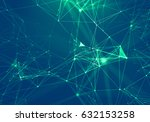 abstract blue geometrical... | Shutterstock . vector #632153258