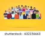 group of people on yellow... | Shutterstock .eps vector #632156663