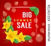 big summer sale inscription... | Shutterstock .eps vector #632156726