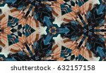 abstract hand painted... | Shutterstock . vector #632157158