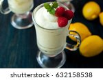 lemon curd mousse | Shutterstock . vector #632158538
