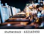 luxury table setting.   | Shutterstock . vector #632165450