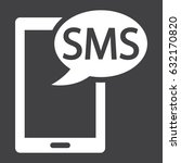 sms solid icon  contact us and...