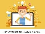 stock vector illustration man... | Shutterstock .eps vector #632171783