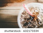 refreshing bubbly soda pop with ...   Shutterstock . vector #632173334